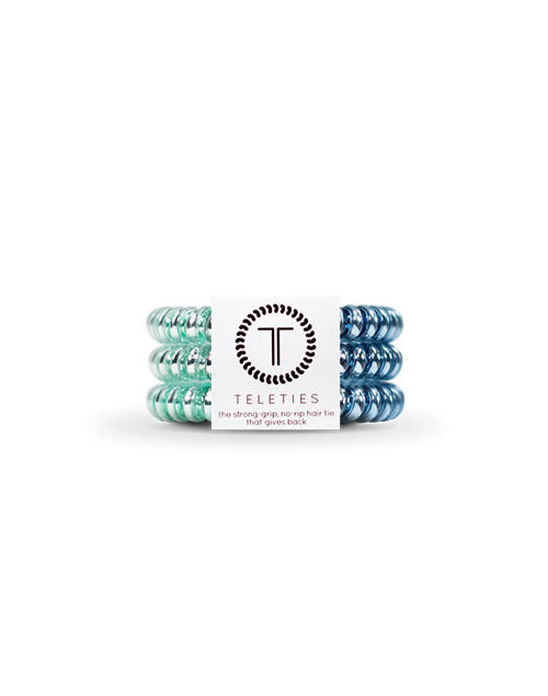 Teleties 3 Pack Small - Blue Sapphire