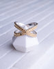 Cross Ring-Gold Plated
