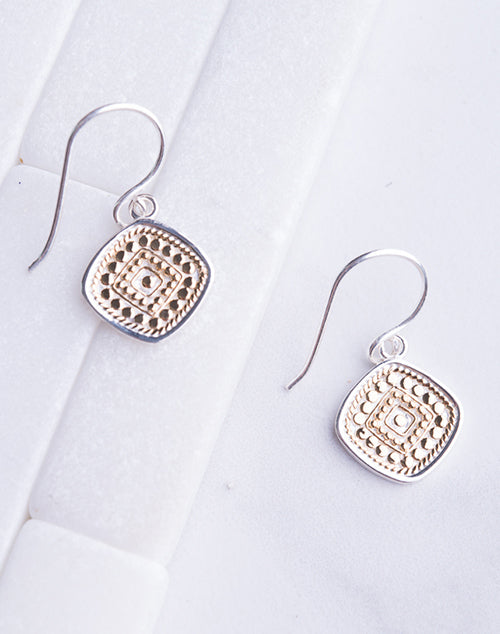 Anna Beck Cushion Drop Earring- Gold