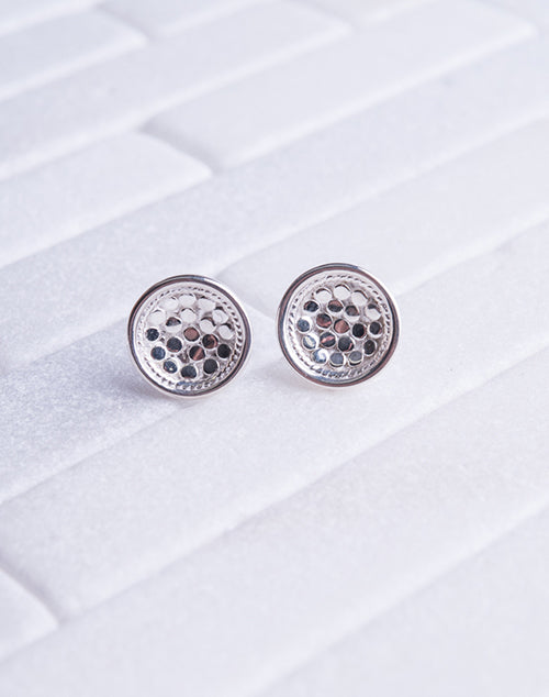 Dish Stud Sterling Silver Earring