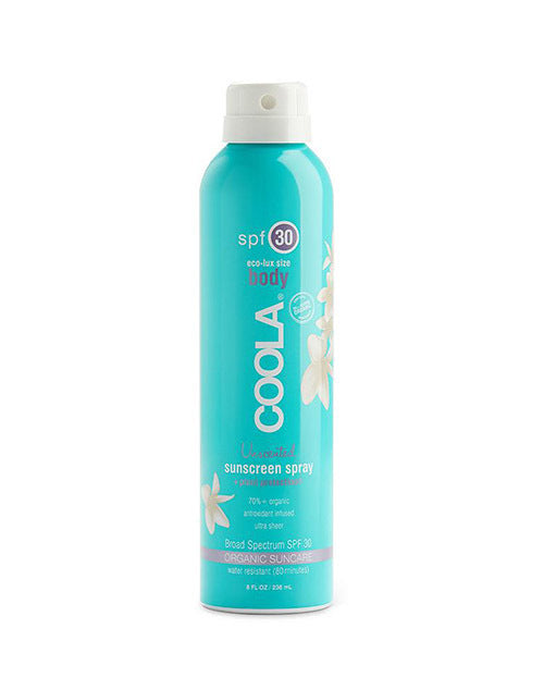 COOLA 8oz. Unscented SPF 30 Spray