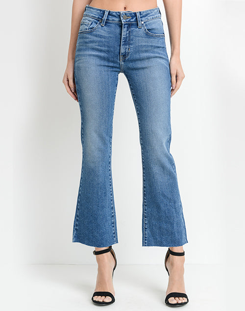 Scissor Cut Crop Flare Denim