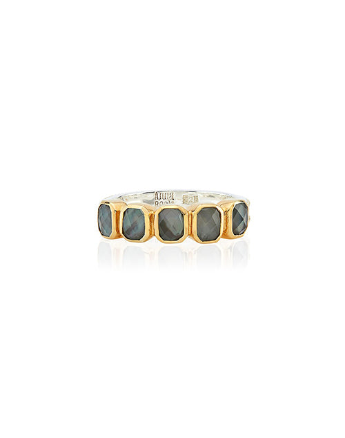 Grey Quartz Multi Stone Ring
