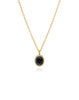 Hypersthene Reversiable Oval Necklace