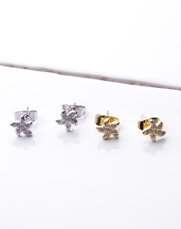 Small CZ Starfish Stud