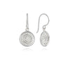 Beaded Dish Drop Sterling Silver Earring