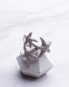 Triple CZ Starfish Ring