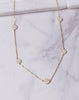 Small Pave CZ Drops Necklace