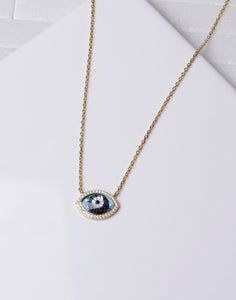 Unique CZ Evil Eye Necklace