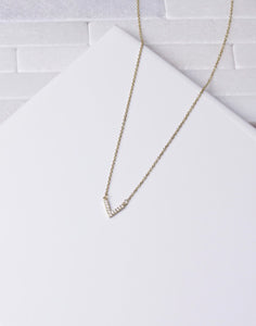 Small CZ V Necklace
