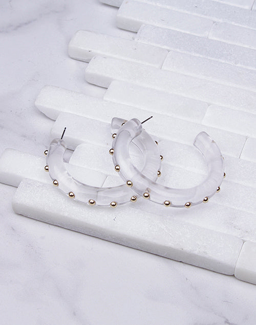 Large Thick Studded Hoop