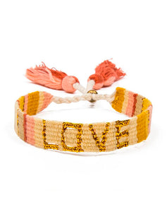 Atitlan LOVE Bracelet - Yellow & Gold