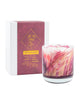 Meditation 8oz Wax Painted Candle - Lotus Bloom