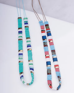 Multi Rectangle Bead Choker