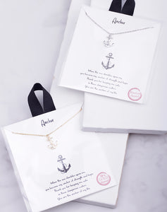 Anchor Carded Necklace