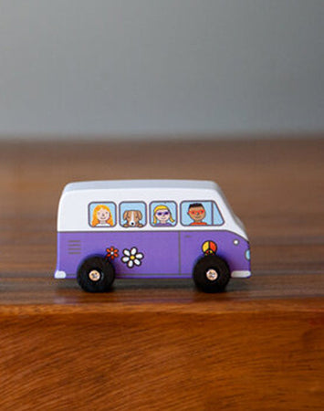 Love Bus Mini Roller Cars - Purple