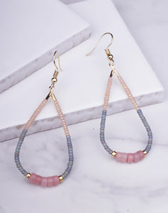 Beaded Teardrop Dangle