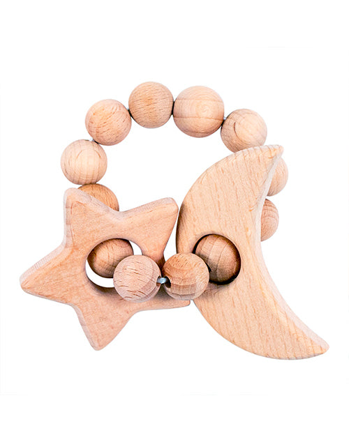 Moon & Star Natural Wooden Teether