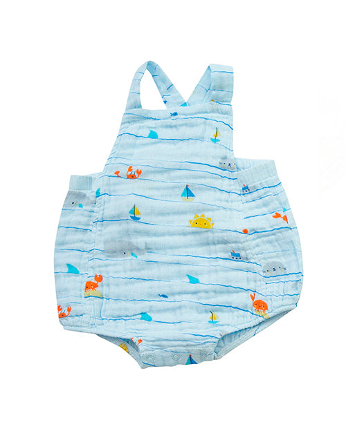 Sea Stripes Retro Sunsuit