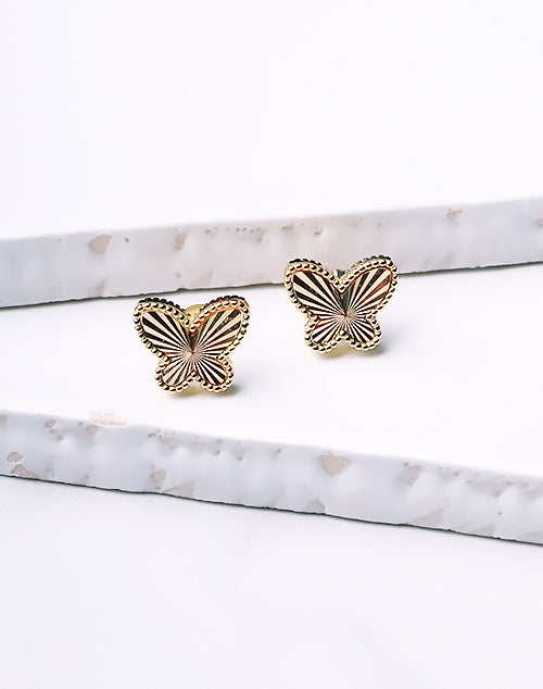 Large Dotted Butterfly Stud