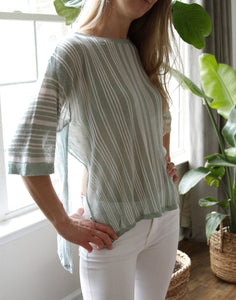 Mint Stripe Top