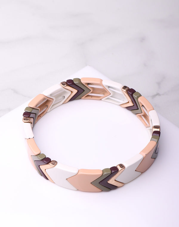 Laq. Neutral Chev Bracelet