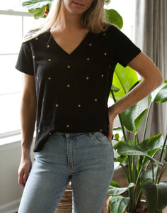 Star Burst Embroidered T Shirt