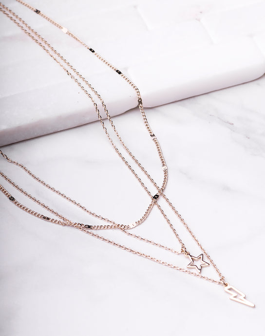 Bolt & Star Layered Necklace