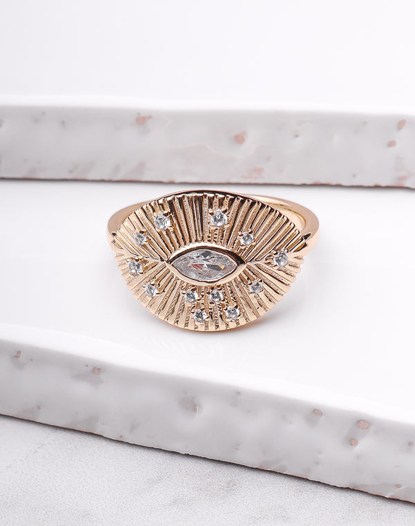 Oval Eye Burst Ring