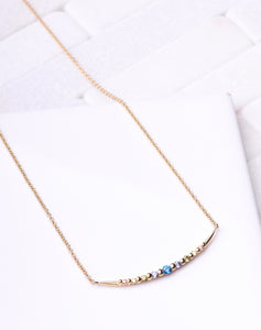 Blue & Clear Bar Necklace