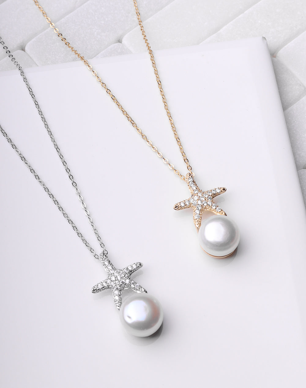 Starfish & Pearl Necklace