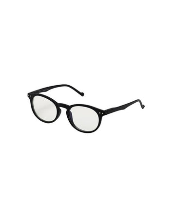 Blue Light Round Frame  Glasses - Black