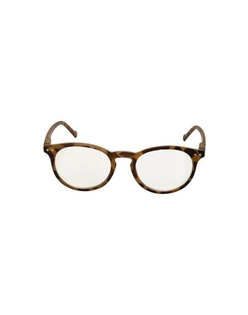 Blue Light Round Frame  Glasses - Light Tortoise