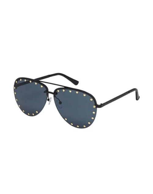 Gaga Collection Black/Dark Smoke Sunglasses