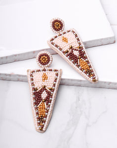 Beaded Triangle Dangle