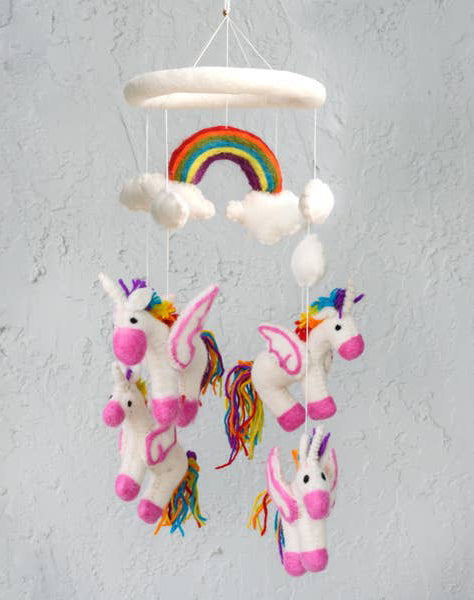 Felt Mobile Unicorn