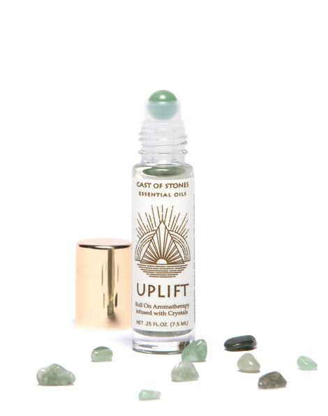 Uplift - Essential Oil Blend With Green Aventurine Stones