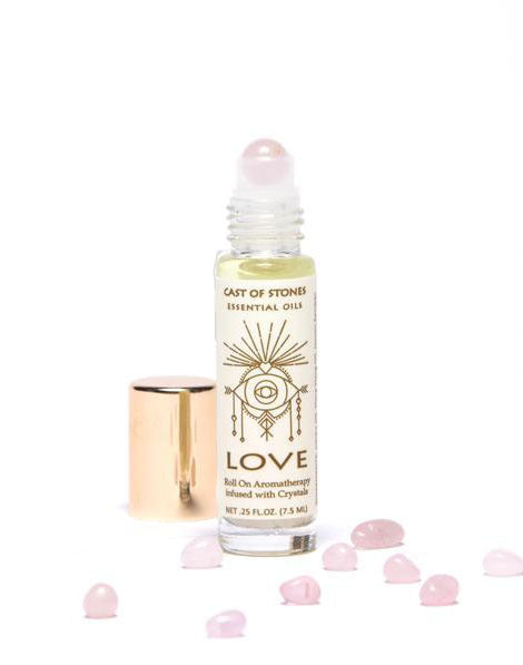 Love - Essential Oil Blend With Rose Quartz Crystal