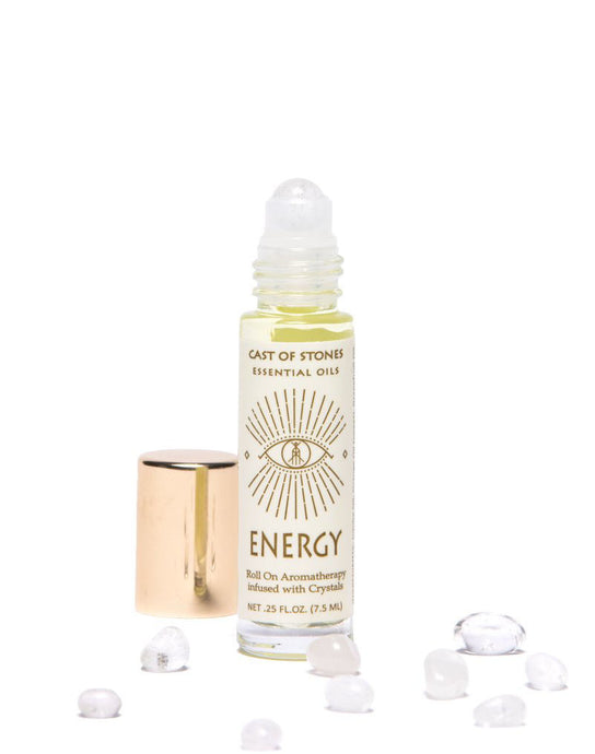 Energy - Essential Oil Blend With Clear Quartz Crystal