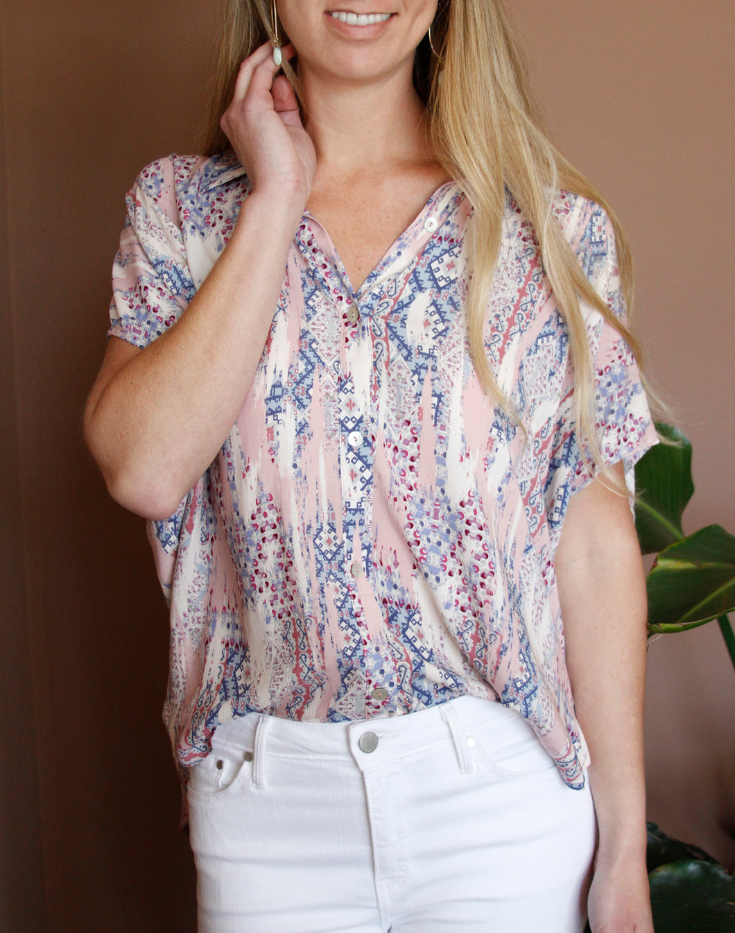 Pretty In Pink Flowy Blouse