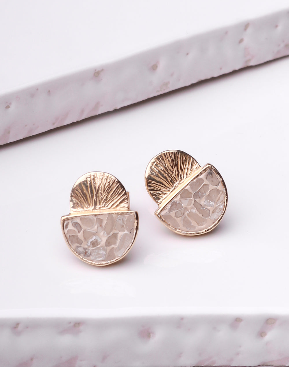 Deco Diamond Laine Earings - 18K Gold Plated