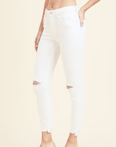 Coastal Hi Rise Destroyed Skinny Denim