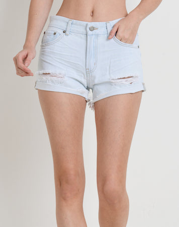 Melissa Rolled Hem Denim Short