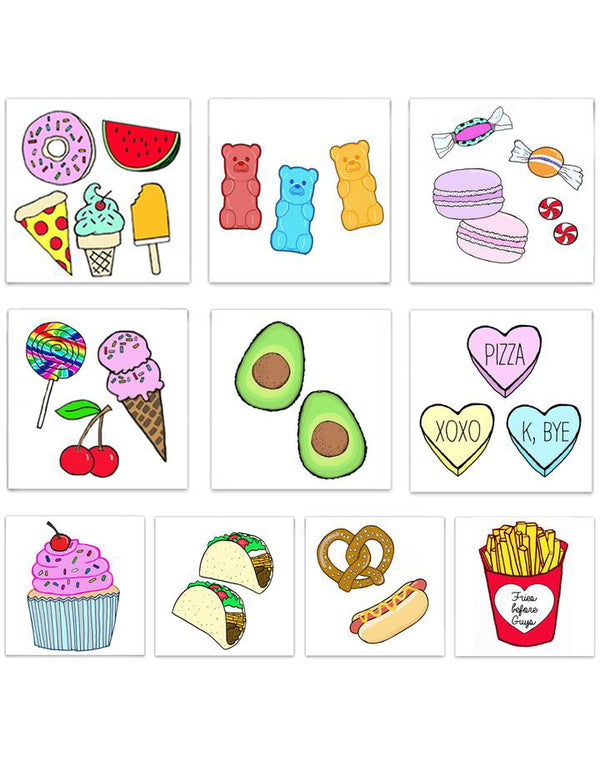 The Foodie Tattoo Pack