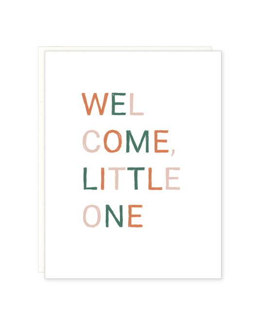 Welcome Little One Text Card