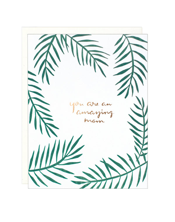 You Are an Amazing Mom - Palms Card