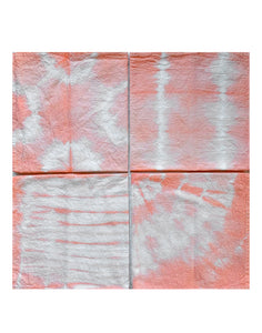 Hand Dyed Peach Cloth Napkins Set of 4