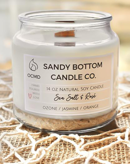 Sea Salt & Rosé Soy Candle