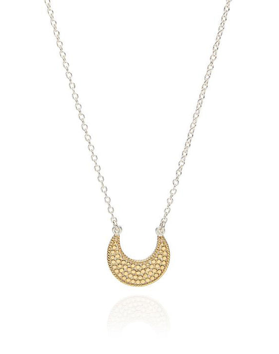 Small Crescent Necklace - Reversiable Gold/Silver