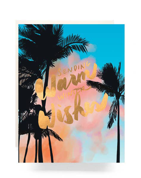 Palms Warm Wishes Card